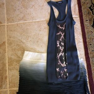 Bebe size small skirt and tank top